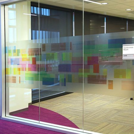 Custom Frosted Glass Decals & Etched Glass Window Film