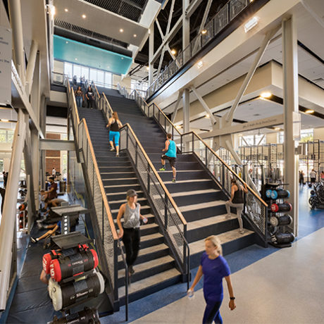 gym design trends stairs