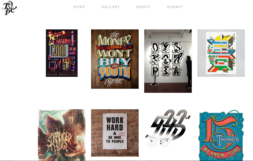 typeverything typography wall mural inspiration